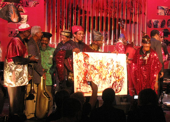 Marshall Allen, Arketra, Friends and Jeff Schlanger's Art at Vision Festival 2009