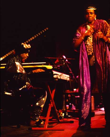 Sun Ra and June Tyson, Wolf Trap Barns, 4-21-90